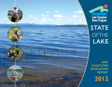 The State of the Lake report comes out every three to four years to report on Lake Champlain's condition. Graphic by LCBP.