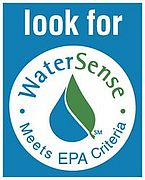 A WaterSense label indicates water saving products.