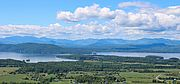 Photo of Lake Champlain and the Adirondack Mountains as seen from Mt. Philo in Vermont. Photo by Lisa Cicchetti.