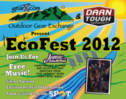 The 2012 Vermont EcoFest will be held in Burlington, VT on September 8 from 11:00 AM - 5:00 PM. Graphic by Outdoor Gear Exchange.