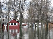 Lake flooding in 2011. Photo by Chuck Woessner.
